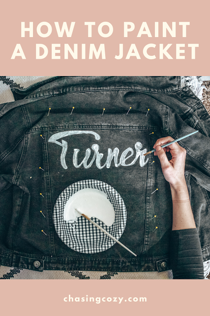How to paint a denim jacket for the boho bride