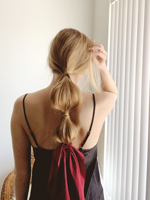 Steps bubble ponytail DIY