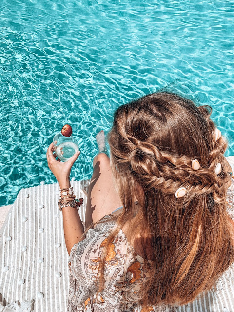 DIY shell hair barettes for boho braids