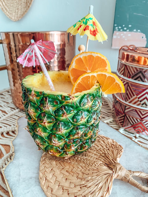 Easy pineapple cocktail cup