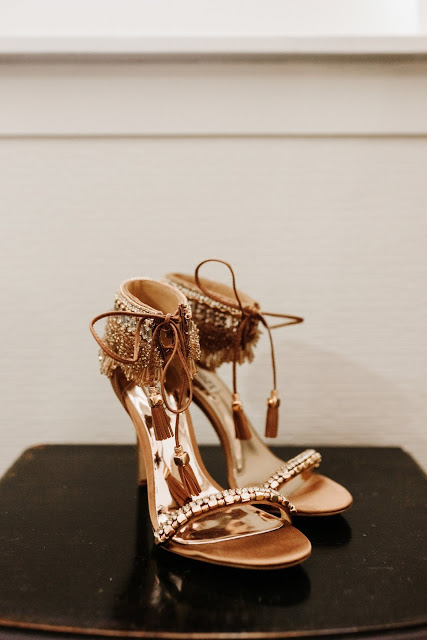 boho beaded wedding shoes