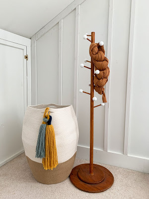 hamper and kids coat rack